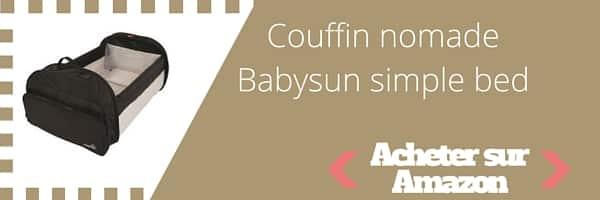 acheter couffin nomade babysun