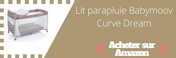acheter lit parapluie babymoov curve dream
