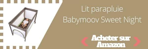 Acheter lit parapluie Babymoov Sweet Night