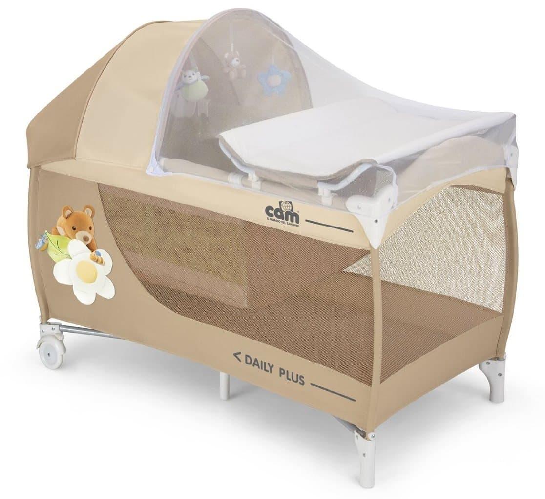 lit parapluie avec table à langer Cam daily plus