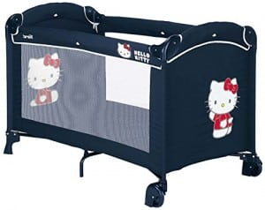 lit pliant hello kitty bleu marine