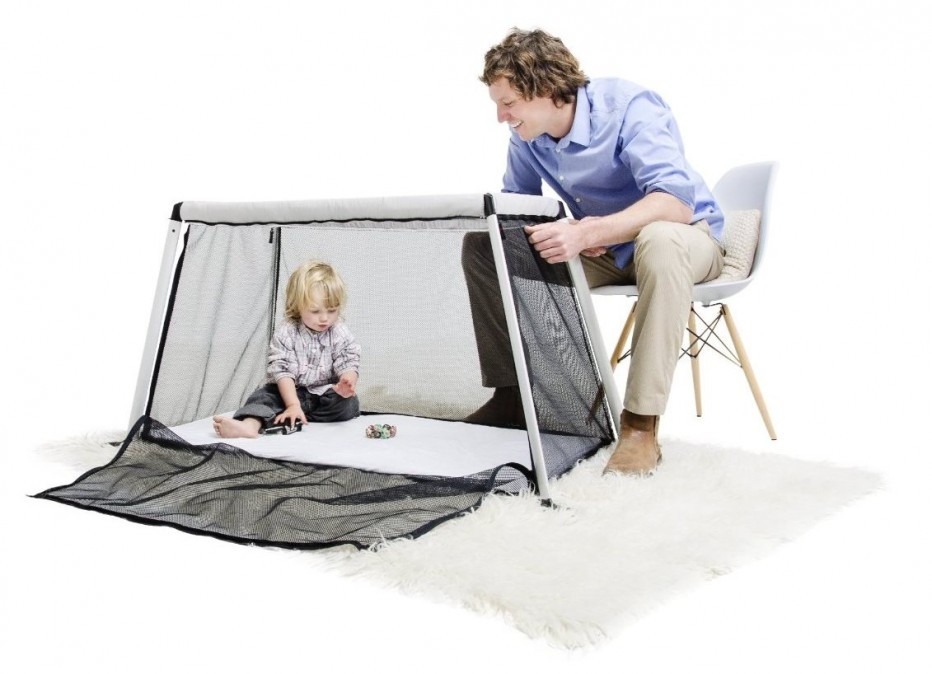 lit parapluie phil teds traveller argent babybed. Black Bedroom Furniture Sets. Home Design Ideas