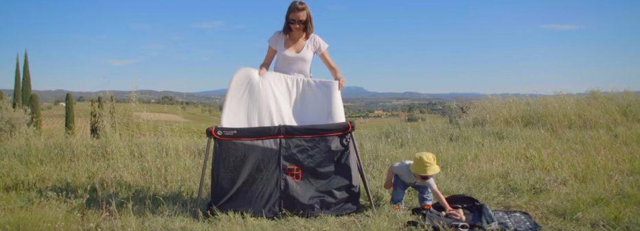 Lit parapluie Naos : léger, compact, facile à monter