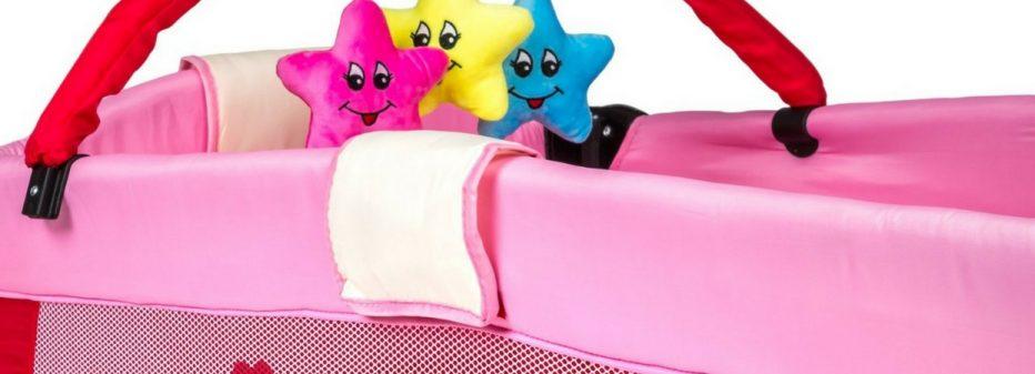Lit parapluie rose Tectake : tout équipé à petit prix