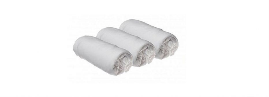 Lot de 3 Draps housse coton bio 60×120