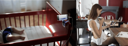 Babycamera Babymoov : 1er babyphone vidéo connecté 0 onde